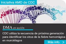 ilustración de cadenas de ADN detrás del texto - Los laboratorios de los CDC producen la primera secuencia genómica del virus del Ébola en Liberia