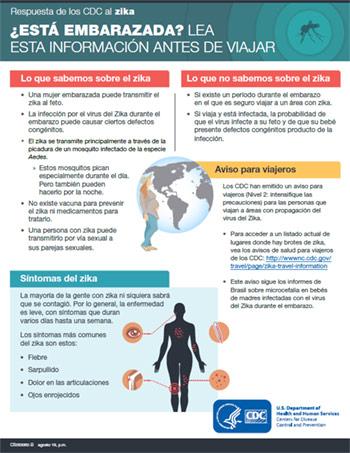 Vista en miniatura de la infografía: ¿Está embarazada? Lea esto antes de viajar.