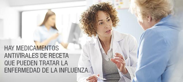 Existen medicamentos antivirales recetados que pueden tratar la influenza.