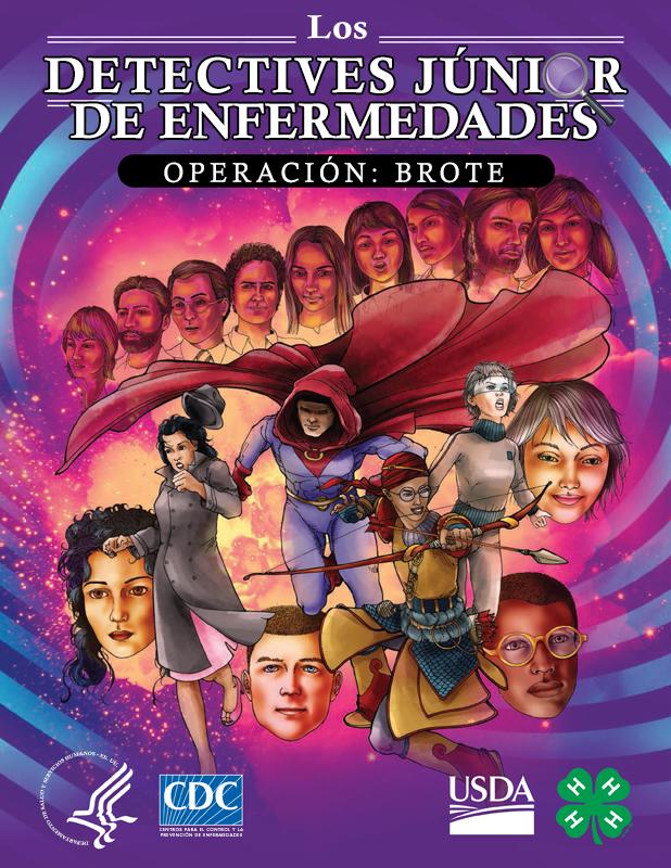 """Serie de cómics - Los detectivesjúnior de enfermedades: operación """"Brote"""""""