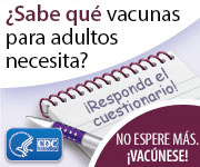 Botón del cuestionario sobre las vacunas