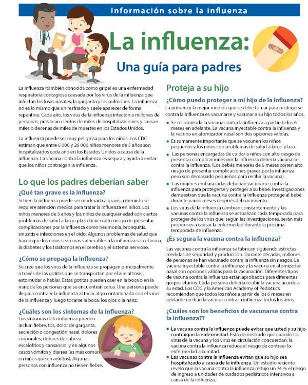 La influenza: Guía para padres