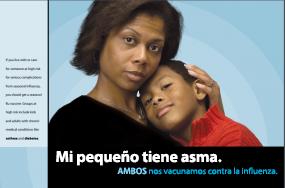 Una mujer con su hijo