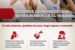 detenga la propagación de microbios en el trabajo