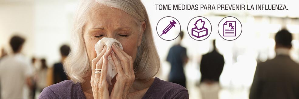 Tome medidas para prevenir la influenza