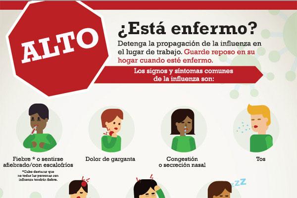 Afiche: síntomas de la influenza