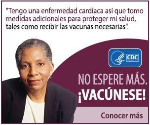 No espere para vacunarse.